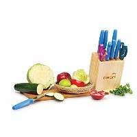(7 Knives + 2 Scissors) - Godrej Cartini Stainless steel set of 7 Piece of Knives and 2 piece of...
