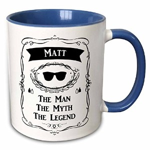 InspirationzStore The Man The Myth The Legend – マット – The Man The Myth The Legend – 個人名パーソナライズされたギフト – マグカップ 11-oz Two-Tone Blue Mug mug_232332_6
