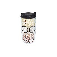 Tervis Harry Potter Glasses And ScarラップWavy Tumbler withブラック蓋、10オンス、クリア