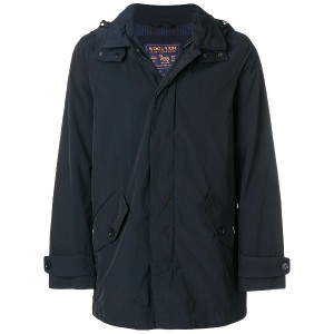 Woolrich zipped fitted jacket - ブルー