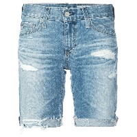 Ag Jeans distressed design shorts - ブルー
