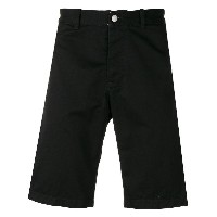 Edwin knee-length fitted shorts - ブラック