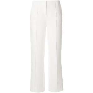 Diane Von Furstenberg piped high waisted trousers - ホワイト