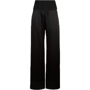 Fleur Du Mal high waisted palazzo trousers - ブラック