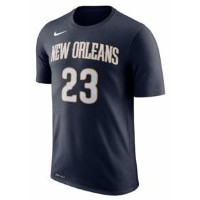 ナイキ メンズ Tシャツ Anthony Davis New Orleans Pelicans Nike Name Performance T-Shirt Navy