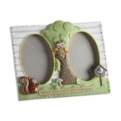 Learning To Fly Owl Frame 3.5 x 5 Two Pane Catholic Baptism Child by Roman Inc. [並行輸入品]