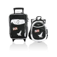 Obersee Kids Luggage and Backpack Set with Integrated Cooler, Space by O3 [並行輸入品]