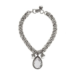 Alexander McQueen jewelled necklace - メタリック