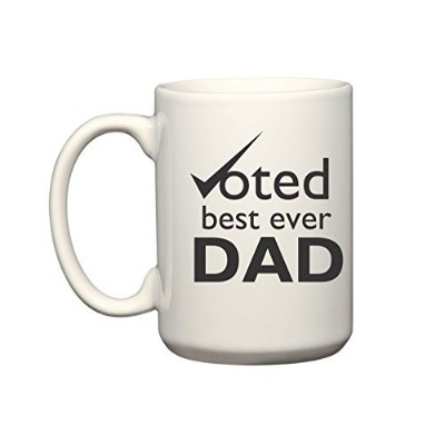 Voted Best Ever Dadマグカップ| 11オンス100%セラミックマグカップ|コーヒーマグ&カップ–Inspirational gifts for Dadsと父Figures