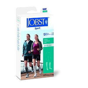 New Jobst Sport Compression Knee High Socks 20-30 mmHg Grey (X-Large) by Jobst