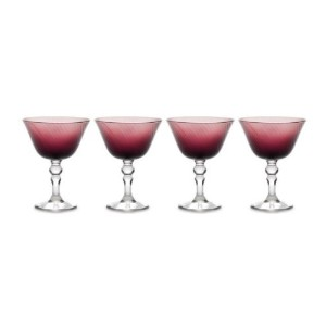ミカサCharade Plum Margarita Glasses – 4のセット