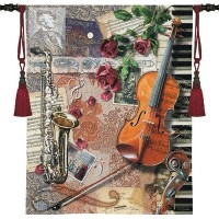 FineArtTapestries 3062-WH Ensemble WH Wall Tapestry