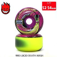 SPITFIRE スピットファイア WHEEL F4 99D LUCID DEATH MASH RADIAL SLIM PURPLE/D.YELLOW SFW-808 52-54mm スケートボード...