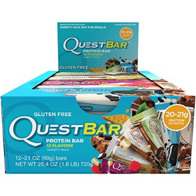 Quest Nutrition Protein Bar, Popular Flavors Variety Pack, 12 Flavors, 20-21g Protein, 2.12oz Bar,...