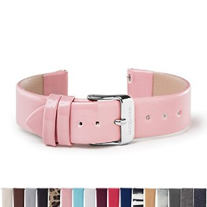 Wristologyシルバー18mm Womens Easy Interchangeable Watch Band ピンク