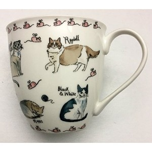 Cat Lover Kitty Coffee Tea Mug by Millyグリーン–Designed in Great Britain