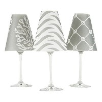 di Potter WS268 Caribbean Paper White Wine Glass Shade, Fog Gray (Pack of 6) [並行輸入品]