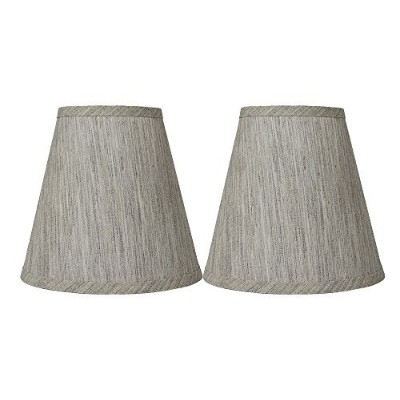 (Set of 2, Storm) - Urbanest Set of 2 Hardback Linen Empire Lamp Shade 13cm by 23cm by 22cm , Storm