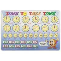 Painless Learning TIM-1 Time To Tell Time Placemat