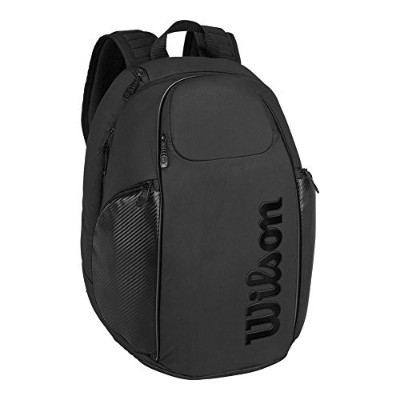Wilson(ウイルソン) テニス ラケットバッグ VANCOUVER BACKPACK (バンクーバー バックパック) BLACK EDITION 2本収納可能 WRZ841896