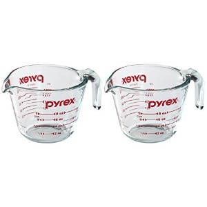Pyrex Prepware 2-cupガラスMeasuring Cup with Lid 1-Cup (Pack of 2)