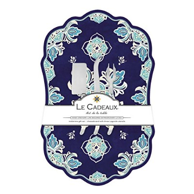 Le Cadeaux Melamine Havana Large Cheese Board with Utensils