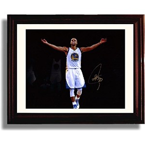 Framed Stephen CurryスポットライトAutographレプリカ印刷 – Golden State Warriors