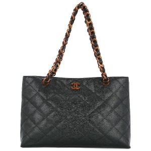 Chanel Vintage quilted tote bag - ブラック