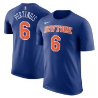 ナイキ メンズ Tシャツ Kristaps Porzingis New York Knicks Nike Name & Number Performance T-Shirt Blue