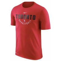 ナイキ メンズ Tシャツ Toronto Raptors Nike Practice Performance T-Shirt Red