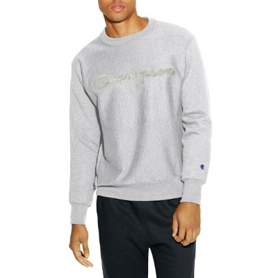 チャンピオン メンズ パーカー・スウェット アウター Champion Reverse Weave Crewneck Cotton Blend Sweatshirt Oxford Gray