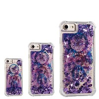 iPhone 8 Plus/iPhone 7 Plus,AICOO Pattern Shock-absorbing Bling Glitter Sparkle Liquid Moving...