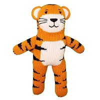 Zubels 100 % hand-knit kai The Tiger Plush人形Toyすべて天然繊維