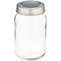 Fashioncraft Perfectly PlainガラスMason Jar withシルバースクリュートップ、16 oz by Fashioncraft