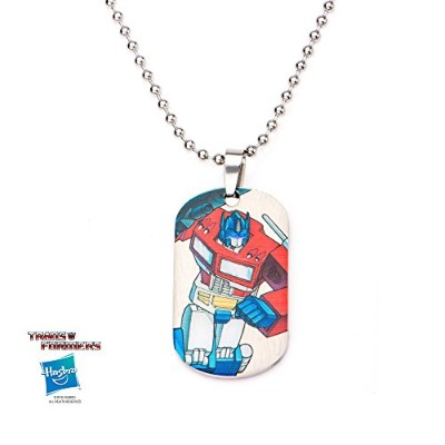 Transformer's Optimus Prime Stainless Steel Dog Tag Necklace