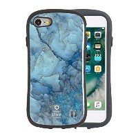 iFace First Class Marble iPhone8 / 7 ケース 耐衝撃 / ブルー