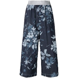 I'M Isola Marras cropped floral print trousers - ブルー