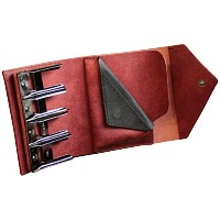 LITSTA Coin Wallet3 コインホルダー付きコンパクト財布 赤 BRICK RED