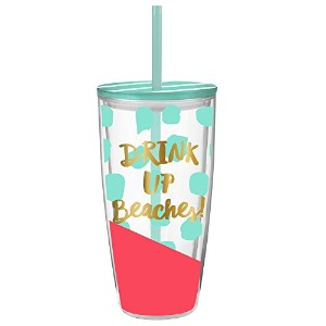 Drink Up Beaches – 22オンスダブルウォールInsulated Tumbler with Lid and Straw