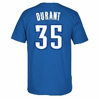 Kevin Durant Oklahoma City Thunder NBA AdidasメンズブルーName & Number Player Jersey Tシャツ ブルー