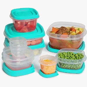 Rubbermaid Easy Find Lid 24-Piece Food Storage Container Set, Blue by Rubbermaid