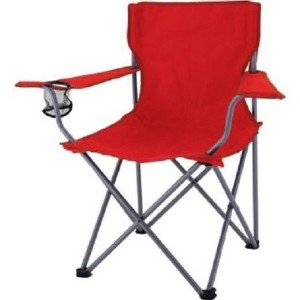 Ozark TrailキャンプクイックFolding Chair with Carryingバッグ、レッド