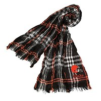 NFL Cleveland Browns Sheer infinity Plaid Scarf