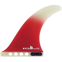 FCS2 FIN (エフシーエスツー) フィン FLOW フロー PG 9 パフォーマンスグラス ロングボード用 センターフィン サーフィン (RED)