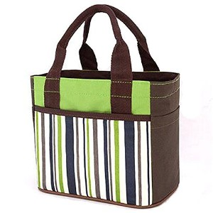 Muitifunction Canvas Bento Lunch Bag for Picnic Travel Tote Lunch Bag with Rope Belt Stylish Green...