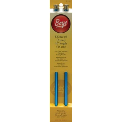 Boye 10-Inch Aluminum Single Point Knitting Needles, Size 10-1/2 by Simplicity Creative Group, Inc ...