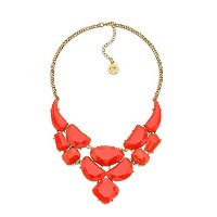 red-orangeカーペットネックレス