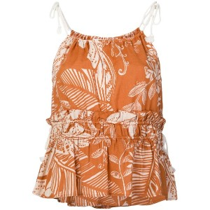 See By Chloé patterned vest top - ブラウン