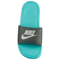 Nike ナイキ レディース ベナッシ JDI スライド Nike Women's Benassi JDI Slide Aurora Green Light Bone River Rock