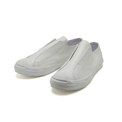 【CONVERSE】 コンバース JACK PURCELL NEWSLIP LEATHER R ジャックパーセル ニュースリップ レザー R 32243310 WHITE